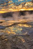 Sunrise With Clouds And Reflections At Mammoth Hot Springs