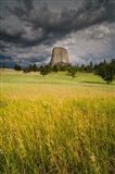 Approaching Thunderstorm At The Devil's Tower National Monument