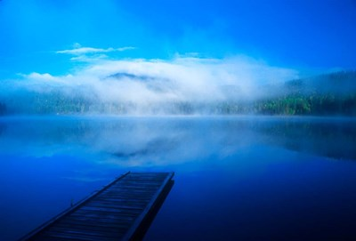Serenity On A Misty Lake Poster by John Alves / Danita Delimont for $48.75 CAD