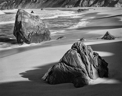 Rocky Coastline Of Garrapata Beach, California (BW) Poster by John Ford / DanitaDelimont for $46.25 CAD