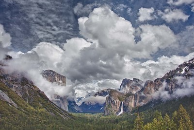 Bridalveil Falls Cloudscape, California Poster by John Ford / DanitaDelimont for $42.50 CAD