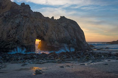 Arch's Last Light At Pfeiffer Beach Poster by Judith Zimmerman / DanitaDelimont for $47.50 CAD