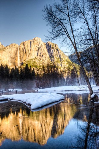 Yosemite Falls reflection in Merced River, Yosemite, California Poster by Tom Norring / Danita Delimont for $102.50 CAD