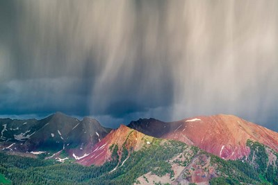 Storm Moving Over Mountains Near Crested Butte, Colorado Poster by Howie Garber / Danita Delimont for $60.00 CAD