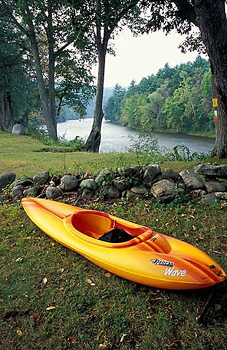 Kayak on Housatonic River, Litchfield Hills, Housatonic Meadows State Park, Connecticut Poster by Jerry & Marcy Monkman / Danita Delimont for $41.25 CAD
