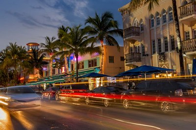 Ocean Drive In South Beach, Florida Poster by Chuck Haney / Danita Delimont for $42.50 CAD