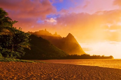 Evening Light On Na Pali Coast Spires, Island Of Kauai, Hawaii Poster by Russ Bishop / DanitaDelimont for $68.75 CAD