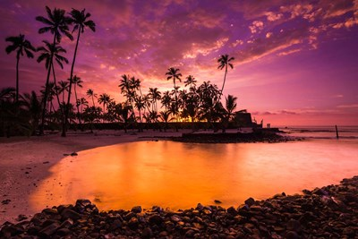 Sunset Over Pu'uhonua O Honaunau National Historic Park, Hawaii Poster by Russ Bishop / DanitaDelimont for $53.75 CAD