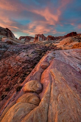 White Dome Trail At Sunset, Valley Of Fire State Park, Nevada Poster by Judith Zimmerman / DanitaDelimont for $51.25 CAD