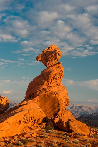 Sunset On Balancing Rock, Nevada Poster by Judith Zimmerman / DanitaDelimont for $51.25 CAD