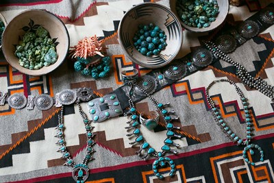 Display Of Turquoise Accessories, Santa Fe, New Mexico Poster by Julien McRoberts / Danita Delimont for $51.25 CAD