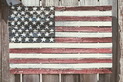 Worn Wooden American Flag, Fire Island, New York Poster by Julien McRoberts / Danita Delimont for $42.50 CAD