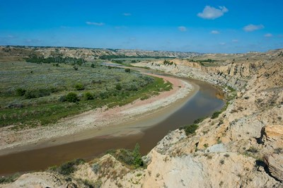 Brown River Bend In The Roosevelt National Park, North Dakota Poster by Michael Runkel / DanitaDelimont for $51.25 CAD