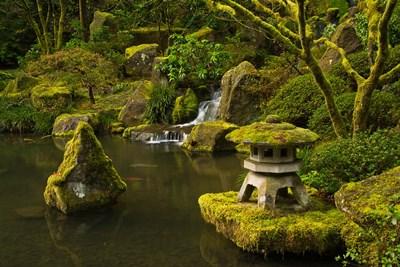 Portland Japanese Garden Pond, Oregon Poster by Michel Hersen / Danita Delimont for $47.50 CAD