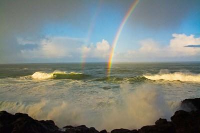 Double Rainbow Over Depoe Bay, Oregon Poster by Michel Hersen / Danita Delimont for $42.50 CAD