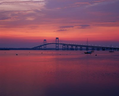 The Newport Bridge at sunset, Newport, Rhode Island Poster by Walter Bibikow / Danita Delimont for $91.25 CAD