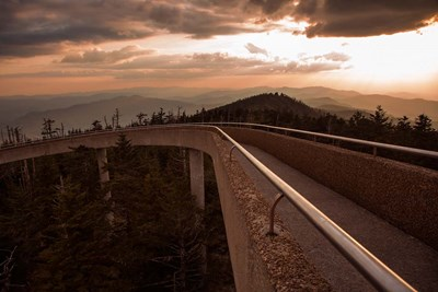Sunset Over Walkway In The Great Smoky Mountains National Park Poster by Jaynes Gallery / Danita Delimont for $47.50 CAD