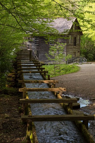 Wooden Flume Directs Water Towards Mingus Mill Poster by Jaynes Gallery / Danita Delimont for $42.50 CAD