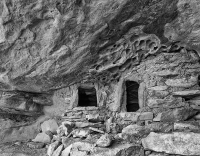 Ancient Granary Slickhorn Canyon, Cedar Mesa, Utah (BW) Poster by John Ford / DanitaDelimont for $46.25 CAD
