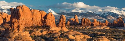 Red Rock Formations Of Windows Section, Arches National Park Poster by Judith Zimmerman / DanitaDelimont for $51.25 CAD