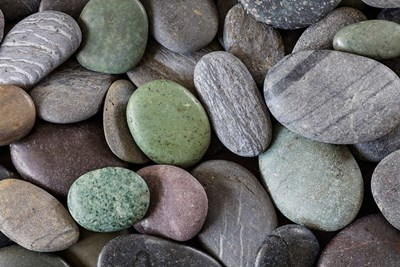 Smooth Beach Rocks Poster by Jaynes Gallery / Danita Delimont for $71.25 CAD