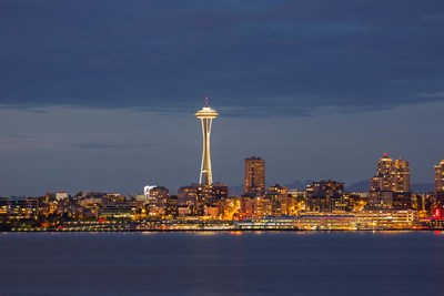 Seattle Skyline At Dusk Poster by Jamie & Judy Wild / Danita Delimont for $47.50 CAD