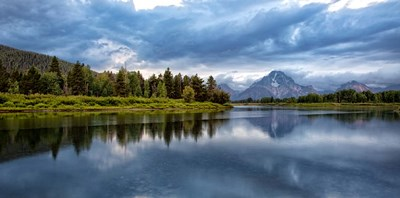 Oxbow Bend Of The Snake River, Panorama, Wyoming Poster by Jaynes Gallery / Danita Delimont for $65.00 CAD