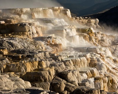 Mammoth Hot Springs, Yellowstone National Park, Wyoming Poster by Michel Hersen / Danita Delimont for $41.25 CAD