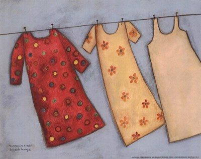 Clothesline Fresh Poster by Bernadette Deming for $7.50 CAD