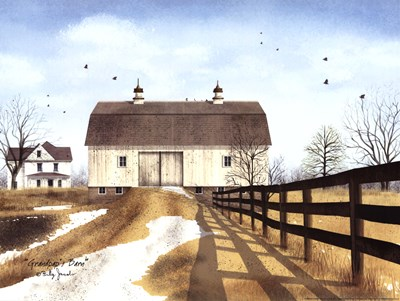 Grandpap's Barn Poster by Billy Jacobs for $20.00 CAD