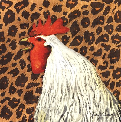 Cheetah Rooster Poster by Barb Tourtillotte for $16.25 CAD
