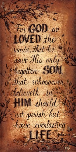 For God So Loved Poster by Gail Eads for $13.75 CAD