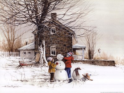 The Joy of Snow Poster by John Rossini for $20.00 CAD