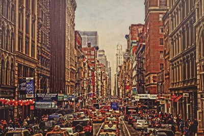 A Day in the City Poster by Kathy Jennings for $40.00 CAD