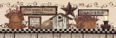 Love Makes a House a Home Poster by Linda Spivey for $32.50 CAD