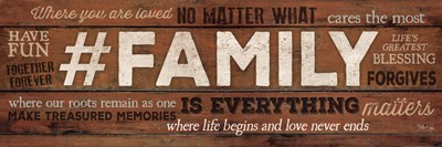#FAMILY Is Everything Poster by Marla Rae for $32.50 CAD