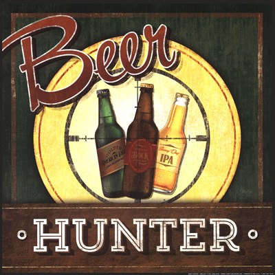Beer Hunter Poster by Mollie B. for $16.25 CAD