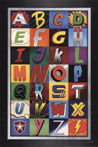 Superhero Alphabet Poster by Lauren Rader for $21.25 CAD
