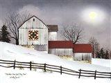 Christmas Star Quilt Block Barn