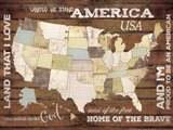 Land That I Love USA Map