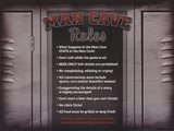 Man Cave Rules in a Locker