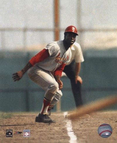 Lou Brock - On Base Poster by Unknown for $21.25 CAD