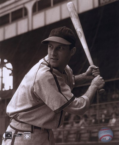 Stan Musial -Batting stance, posed sepia Poster by Unknown for $21.25 CAD