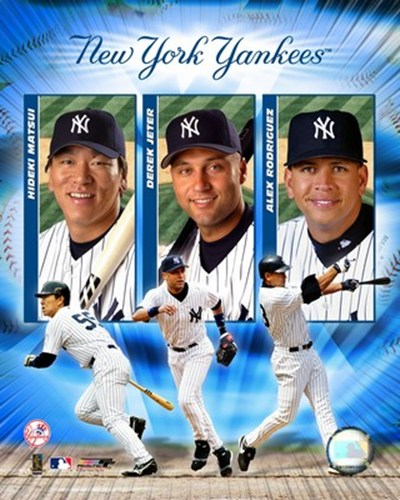 2004 Yankees Big3- HITTERS Poster by Unknown for $20.00 CAD