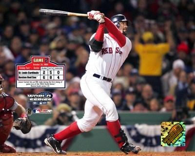 2004 World Series Game 2 - Jason Varitek hits first inning two run triple Poster by Unknown for $20.00 CAD