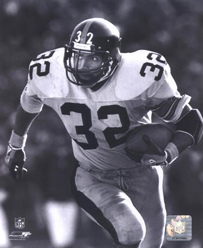 Franco Harris - Rushing With Ball (B&W) Poster by Unknown for $21.25 CAD