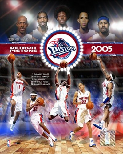 2005 Pistons - Eastern Conference Championship Composite Poster by Unknown for $20.00 CAD