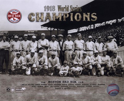 1918 Red Sox World Series Champions Poster by Unknown for $21.25 CAD
