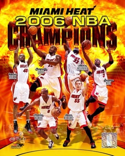 2006 - Heat NBA Champions Composite Poster by Unknown for $21.25 CAD