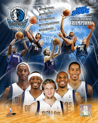 '05 / '06 Mavericks Western Conference Champions Composite Poster by Unknown for $20.00 CAD